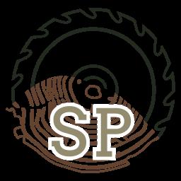 Das Stammprojekte Logo zeigt ein Kreissägeblatt, das in einen Baumstamm übergeht.